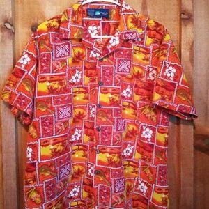 Roundy Bay mens Hawaiian shirt size medium